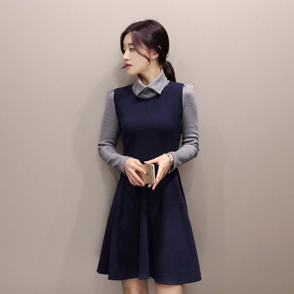 Autumn Cotton Dress http://koreanfashionworld.com/product/autumn-cotton-dress http://koreanfashionworld.com
