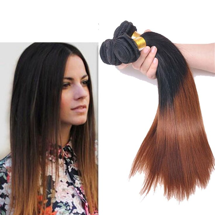 "US 3Bundles Ombre Brazilian Human Hair Extension 16""18""20"" Straight 1B/30# Hot #wigiss #HairExtension"