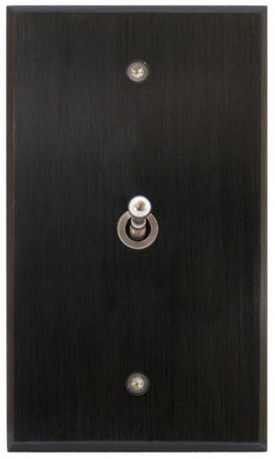 Interrupteur à levier / en inox / contemporain / aspect métal PATINÉ 70*120 - 1 BOUTON 6ixtes PARIS