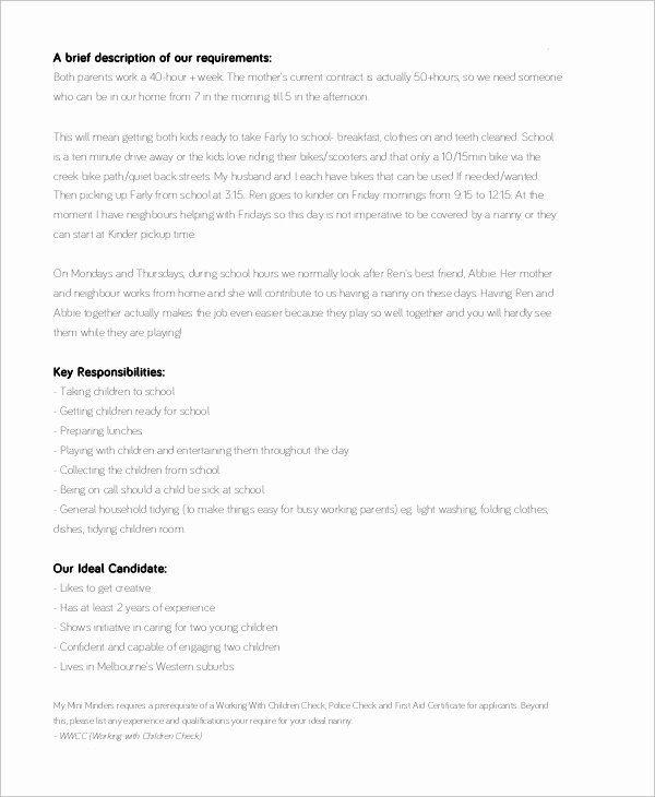 20 Babysitter Job Description Resume In 2020 Babysitter Jobs