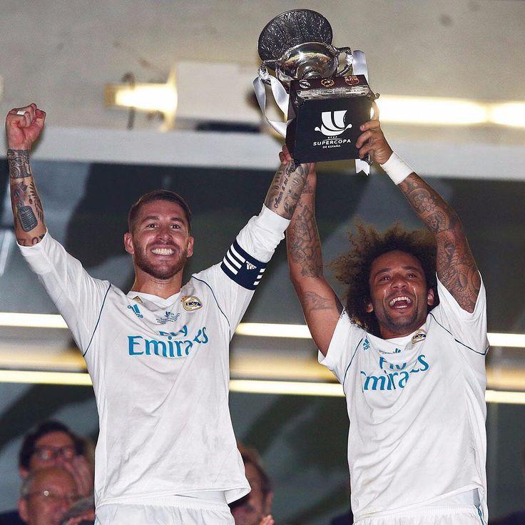 🏆 SPANISH SUPER CUP 2017 🇪🇸 ✊ @SergioRamos 🙌 @MarceloTwelve  #SUPERCAMPEONES