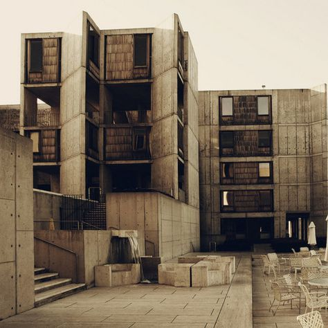 Louis Kahn - Salk Institute - can see my office from this angle.