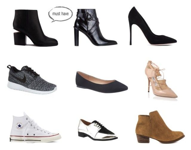 fall shoes by intomyjeans on Polyvore featuring moda, Jimmy Choo, Gianvito Rossi, Alexander Wang, Senso, Jessica Simpson, NIKE, Converse, Office and Lane Bryant: