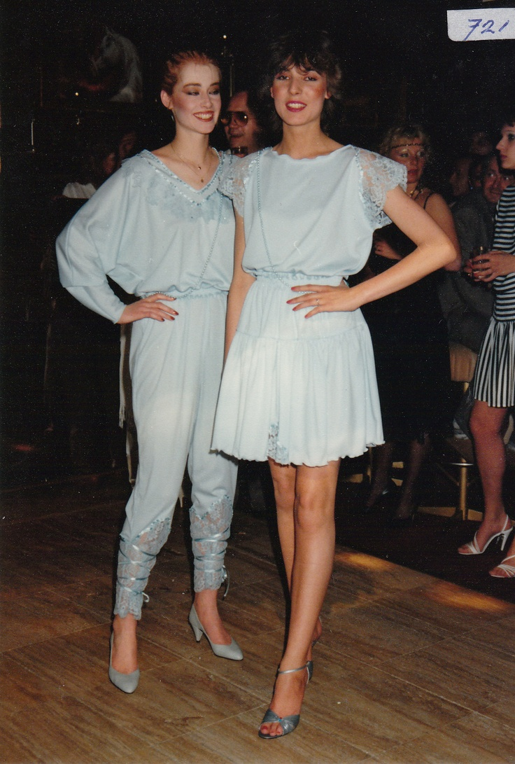 Soft colour jersey and lace outfits