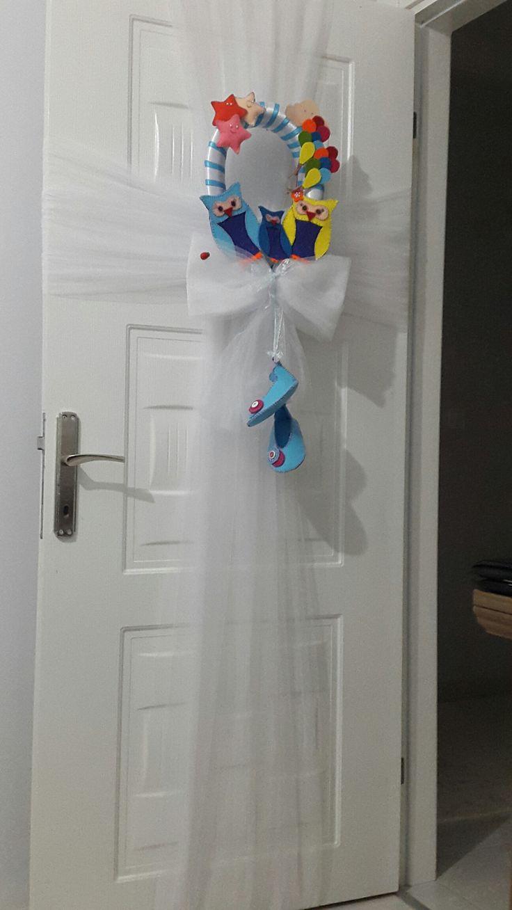Bebeğimin odasının kapı süsü