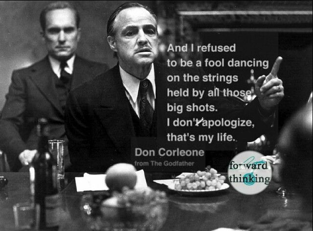 Epic Godfather quote.