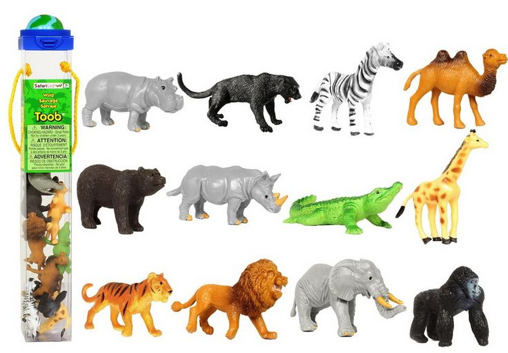 Tube figurines Animaux sauvages