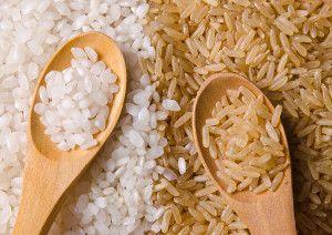 Biela a hnedá ryža