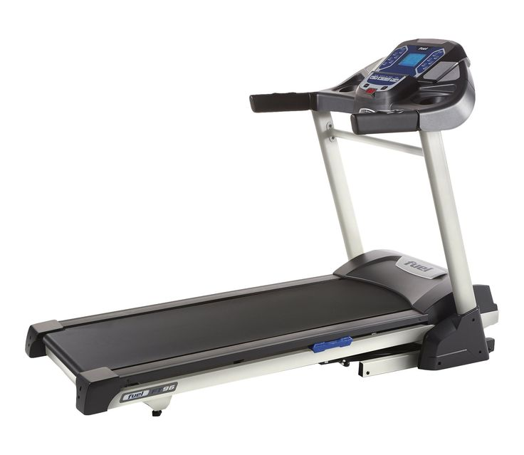 """Fuel Fitness FT96 Treadmill. Powerful treadmill with 2.5 continuous horsepower (CHP) motor to support a lifetime of training. Vivid 6.5"""" LCD display with blue backlit for quick review of workout progress, stats and programs. Features multiple pre-set programs to help get you started and motivated towards your personal goals. Built-in cooling fan keeps you cool and comfortable as you pick up the pace during workouts. Manufacturer's Warranty: Lifetime frame, 3 year parts, 1 year in-home labor."""