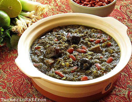 Turmeric & Saffron: Ghormeh Sabzi - Persian Herb Stew