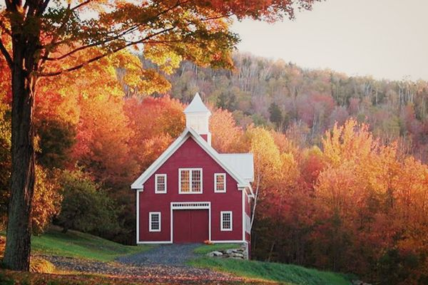 These historical homes seem to have been built just for fall.