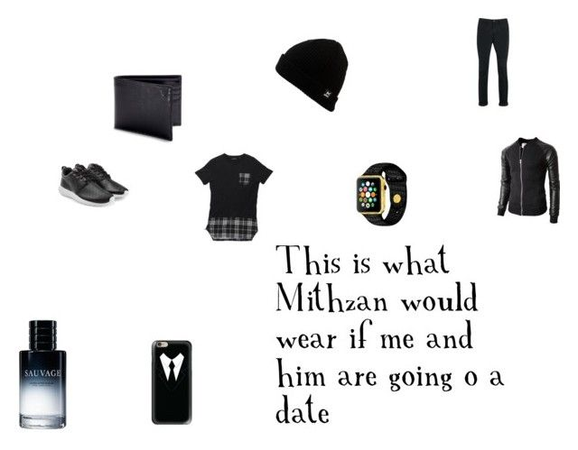 """""""This is what Mithzan would wear if me and him are going on a date"""" by emmapkerr5 on Polyvore featuring Topman, NIKE, Aspinal of London, Casetify, Anon, Christian Dior, men's fashion and menswear"""