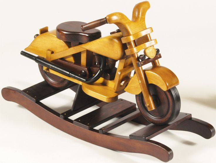 Motorcycle retro wooden toddlers rocker discontinued for Woodworking plan for motorcycle rocker toy