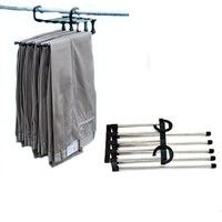 Wish | 5 in 1 StaInless Steel Shirt Trousers Pants Denim Jeans Scarf Coat Hanger Hook Clothes Rack Organizer TL