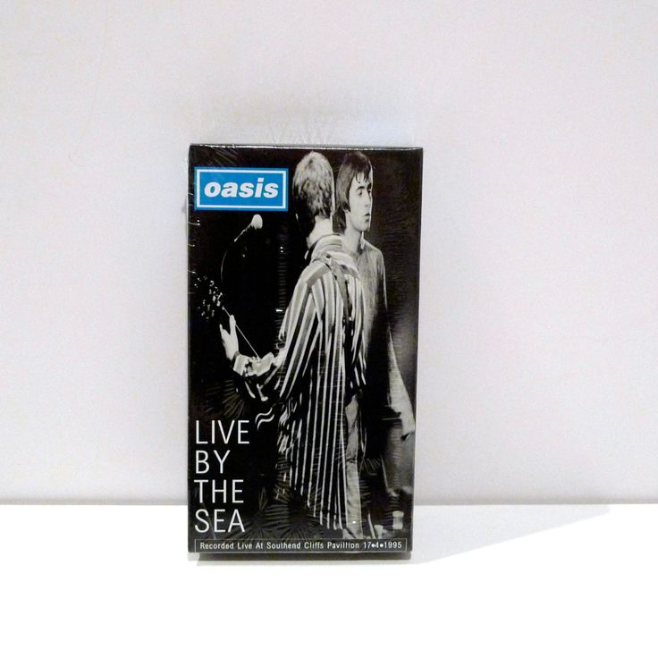 Oasis Band Vintage Sealed VHS Tape Live By The Sea Concert Video Southend Cliffs Pavillion 1995 on Tour Essex England British Pop Rock