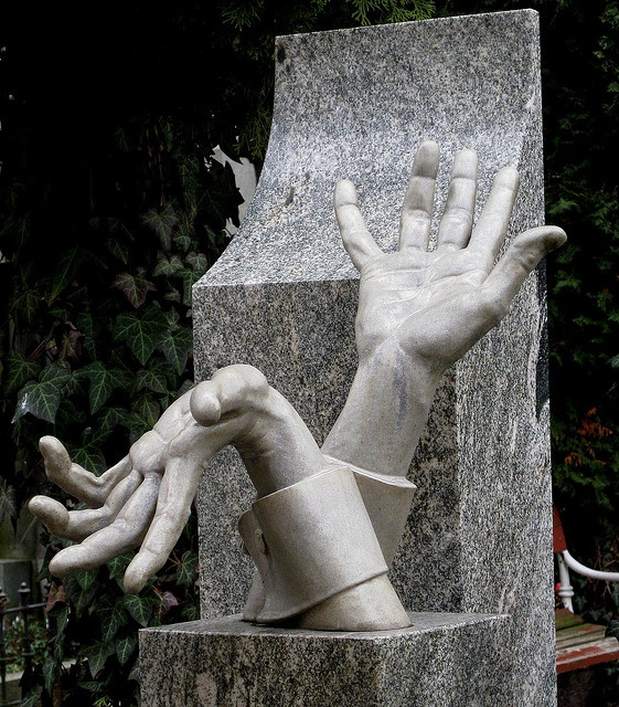 Vysehrad Cemetery, Prague. There's something funny, yet disturbing about this one....