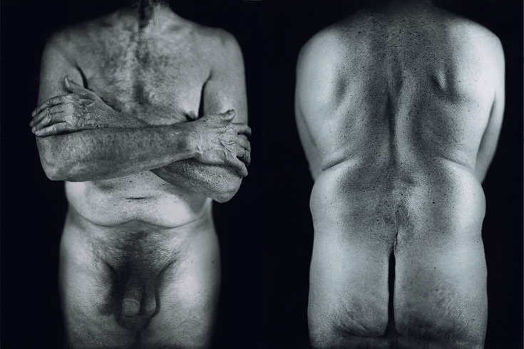 Chuck Close, Untitled Torso Diptych, 2000, daguerreotype.