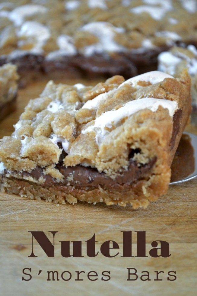 simply decadent Nutella S'mores Bars