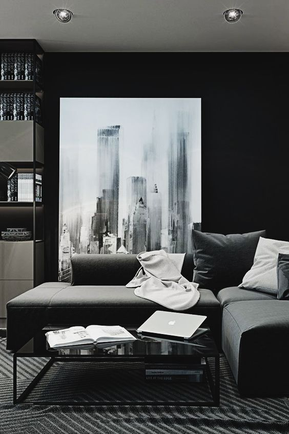 25 Best Ideas About Dark Living Rooms On Pinterest Dark Blue Walls Living Room Paintings And Wallpaper Fireplace