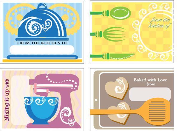 free printable baking tags