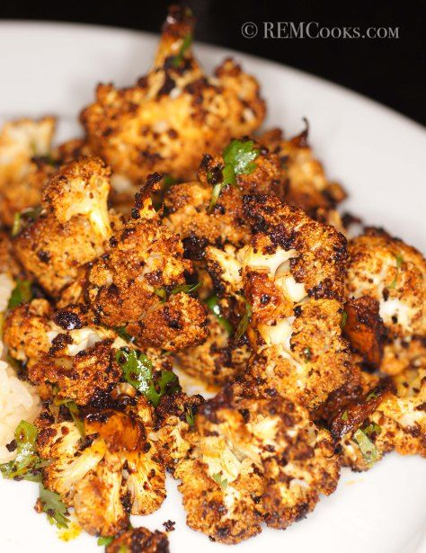 The Best Cauliflower You will Eat Bar None: ROASTED CAULIFLOWER WITH RED CHILE, CILANTRO & LIME