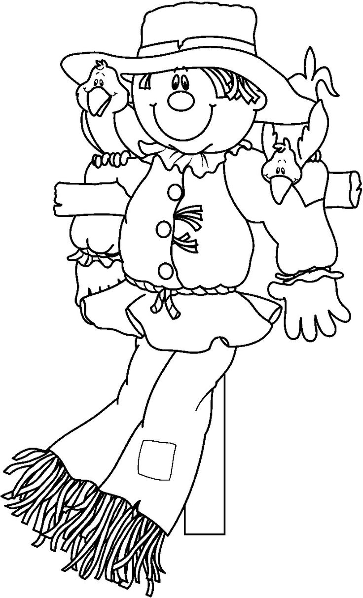 scarecrow coloring pages autumn - photo#15