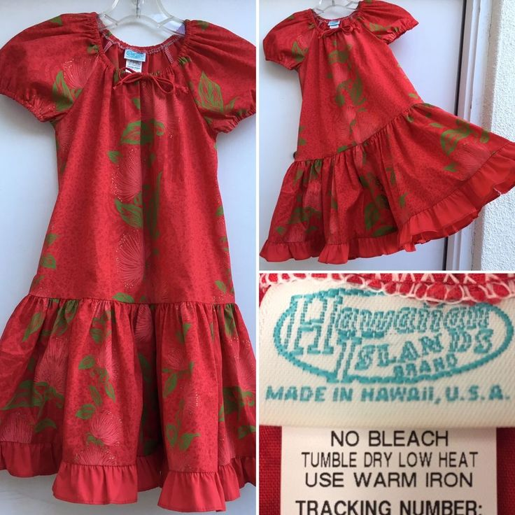 Hawaian Islands Brand Hawaiian Dress Made In Hawaii Girls (kids) Sz 4  | eBay