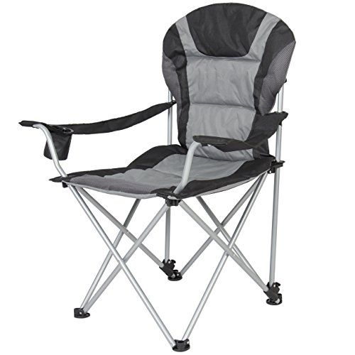 Camping Chairs - Best Choice Products Deluxe Padded Reclining Camping Fishing Beach Chair With Portable Carrying Case *** Check out the image by visiting the link.
