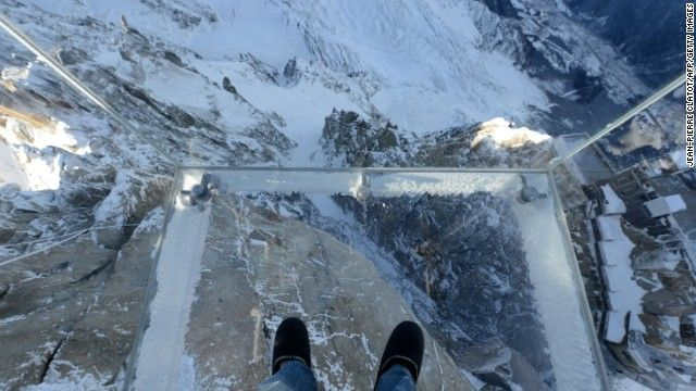 """Inspired by """"The Skywalk"""" -- the glass walkway overlooking the Grand Canyon in Arizona -- French designer Pierre-Yves Chays has created """"Ste..."""