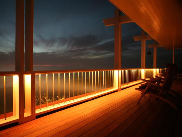 New lighting options to help illuminate your deck- Use strip lighting to brighten up patio areas