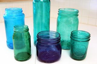 I love this- modge podge & food coloring, then baked in the oven to be translucent. Very pretty!