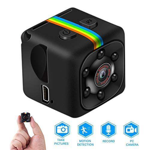 Mini Kamerafull Hd 1080p Tragbare Kleine Uberwachungskamera Mikro Nanny Cam Mit Bewegungserkennung Und Infrarot Nacht Mini Kamera Uberwachungskamera Helmkamera