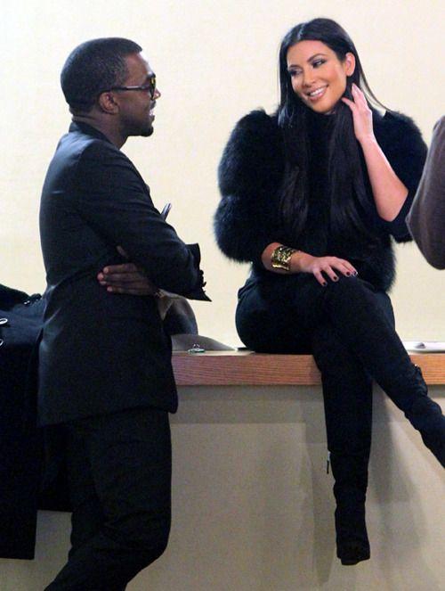 Kim Kardishian and Kanye West