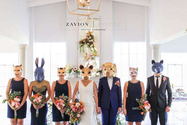 What a fun wedding party and amazing family! masks, gold wedding, wedding bouquets, wedding bouquet, bride bouquet, bridesmaids, bridesmaids dresses, wedding dress. unique wedding. rare wedding.