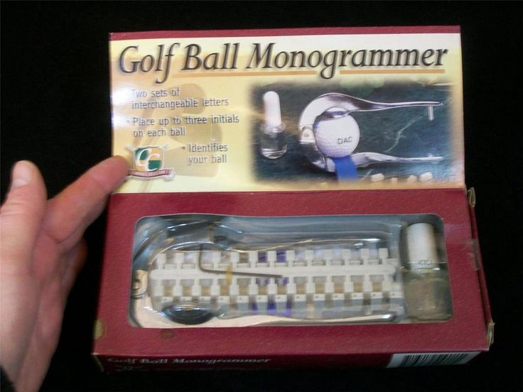 Clubhouse Collection Golf Ball Monogrammer NIB / FREE SHIPPING #ClubhouseCollection