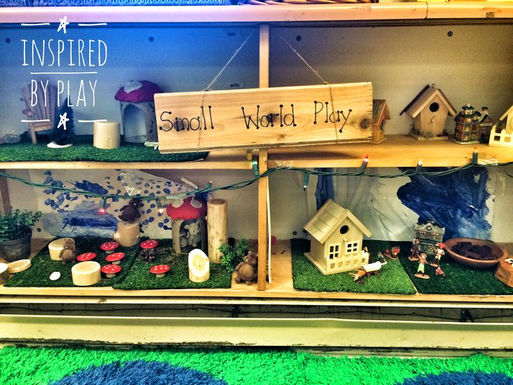 Small World Play Shelves