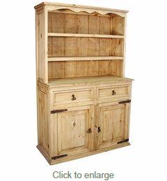 rustic pine trastero cupboard mexican furniture