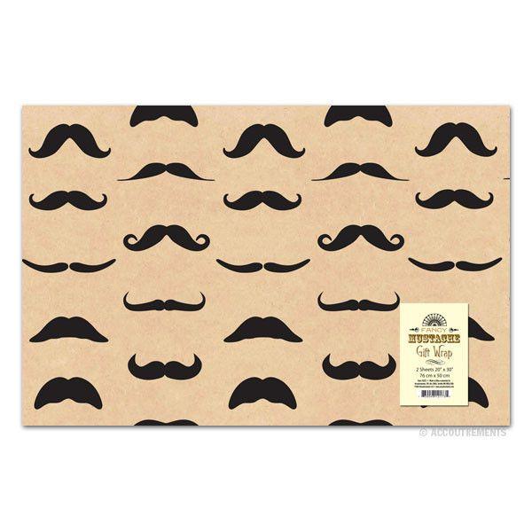 Fancy Moustache Gift Wrap