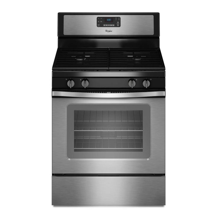 Whirlpool 5.0 cu. ft. Gas Range with Self-Cleaning Oven in Stainless Steel (Silver)