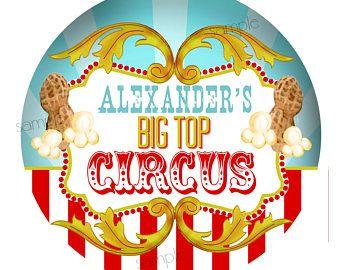 Pegatinas de circo, fiesta de cumpleaños de circo de carpa, pegatinas de carnaval, fiesta de carnaval, palomitas de maíz, cacahuetes de circo, circo favores, favorecen las etiquetas