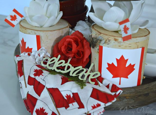 Dining Delight Canada Day Tiered Tray Tiered Tray Summer Centerpieces Canada Day