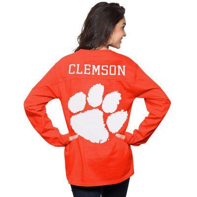 Clemson Tigers Women's The Big Shirt Oversized Long Sleeve T-Shirt - Orange