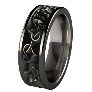 Men's Wedding Rings | Men's Rings - Black Titanium | Titanium Rings, Titanium Wedding Bands ...
