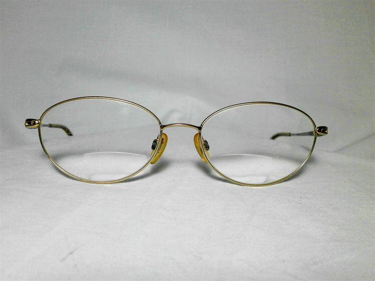 Charmant Japan, 22kt gold plated Titanium, rare, women's eyeglasses frame, fine vintage by FineFrameZ on Etsy