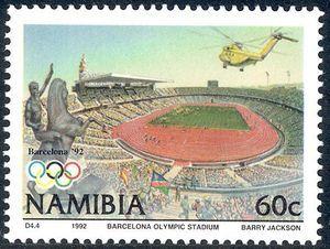 Stamp: Stadium (Namibia) (Olympic Games) Mi:NA 730,Sn:NA 721,Yt:NA 686