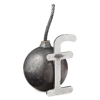 F BOMB PAPERWEIGHT