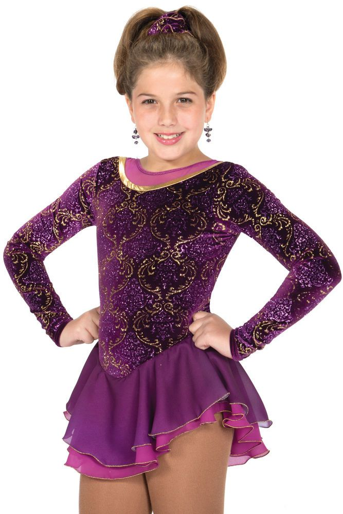 COMPETITION SKATING DRESS 606 BURGUNDY GOLD JERRY MADE ORDER 3 WEEKS FABRICATION