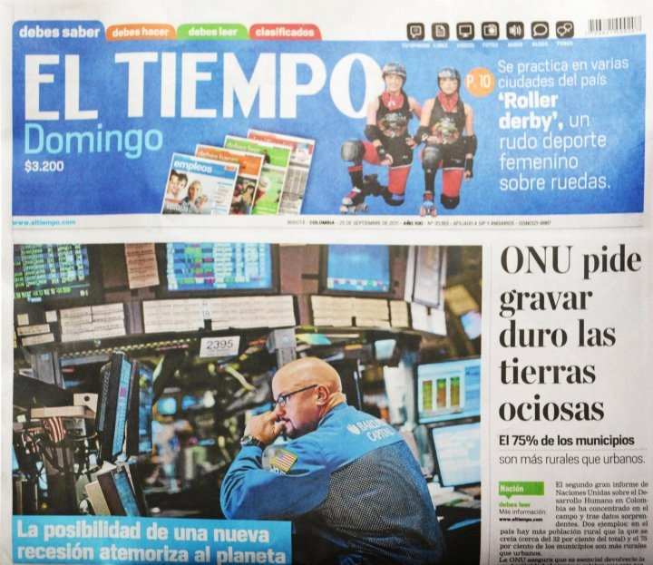 El Tiempo es uno de los periódicos colombianos con más trayectoria y reconocimiento en Colombia. Lee nuestro artículo sobre las historia del diseño gráfico en colombia:  http://www.publistudioltda.com/historia-del-diseno-grafico-en-colombia/