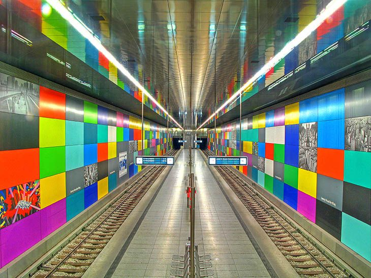 U-bahn Station, Munich, Germany