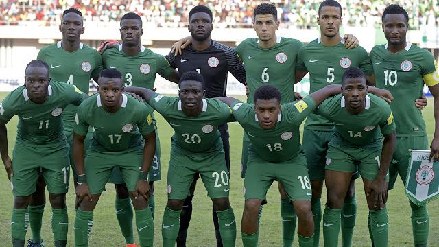 Eagles to open 2017 with Cote dIvoire friendly   Nigerias squad (back L-R) defender Kenneth Omeruo defender Elderson Uwa Echiejile goalkeeper Daniel Akpeyi defender Leon Balogun defender William Troost-Ekong midfielder John Obi Mikel (L-R) midfielder Victor Moses midfielder Ogenyi Onazi forward Oghenekaro Etebo forward Alex Iwobi and forward Kelechi Iheanacho pose for a group picture ahead of the 2018 FIFA World Cup African zone group B qualifying football match between Nigeria and Algeria…